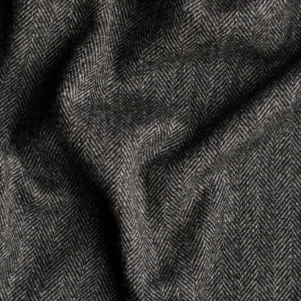 Charcoal Herringbone Tweed