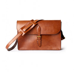 The Huntspill Oak Bark Leather Satchel