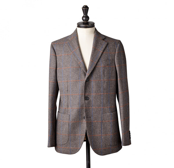 The Merchant Char-Blue Windowpane Blazer