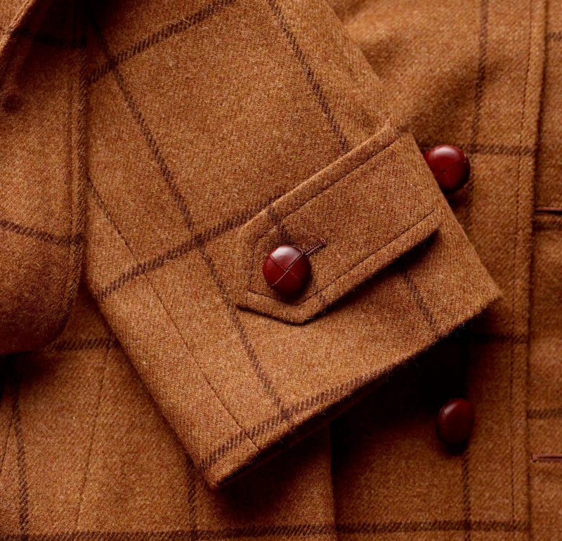 The Merchant Hazel Brown Windowpane Coat