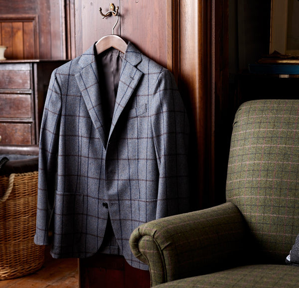 The Merchant Ilford Windowpane Blazer