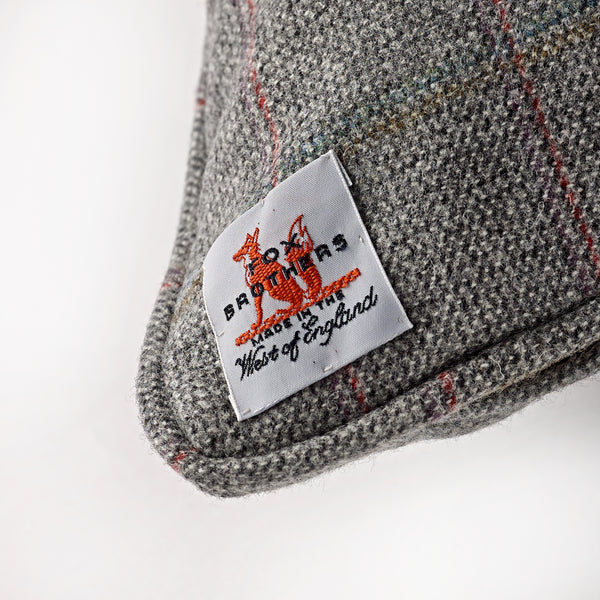 Fox Chelsea Windowpane Cushion in Grey