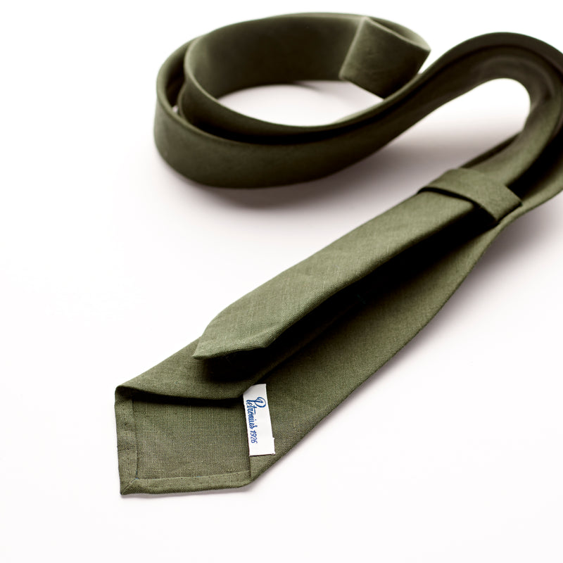 Petronius 1926 Forest Green Linen Tie