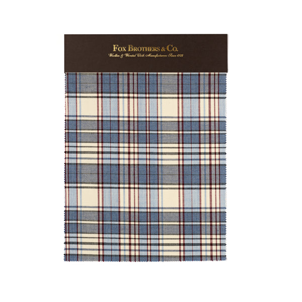 Pale Blue & Ecru Madras Check