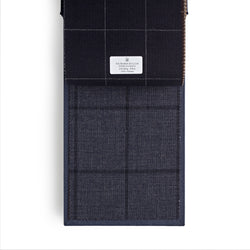 Golden Fox Denim Blue Wide Windowpane