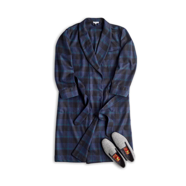 Limited Edition Fox Flannel Midnight Blue with Black and Green Check