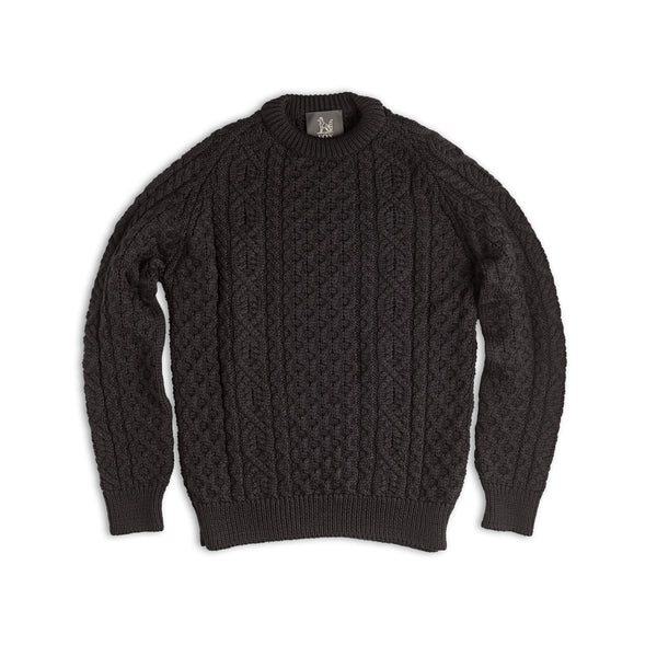 Navy Wool Cable Knit Jumper