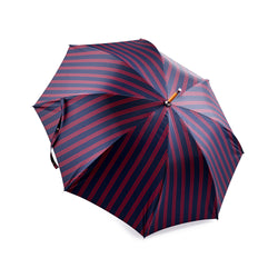 Francesco Maglia Navy Blue and Red Triple Stripe Umbrella