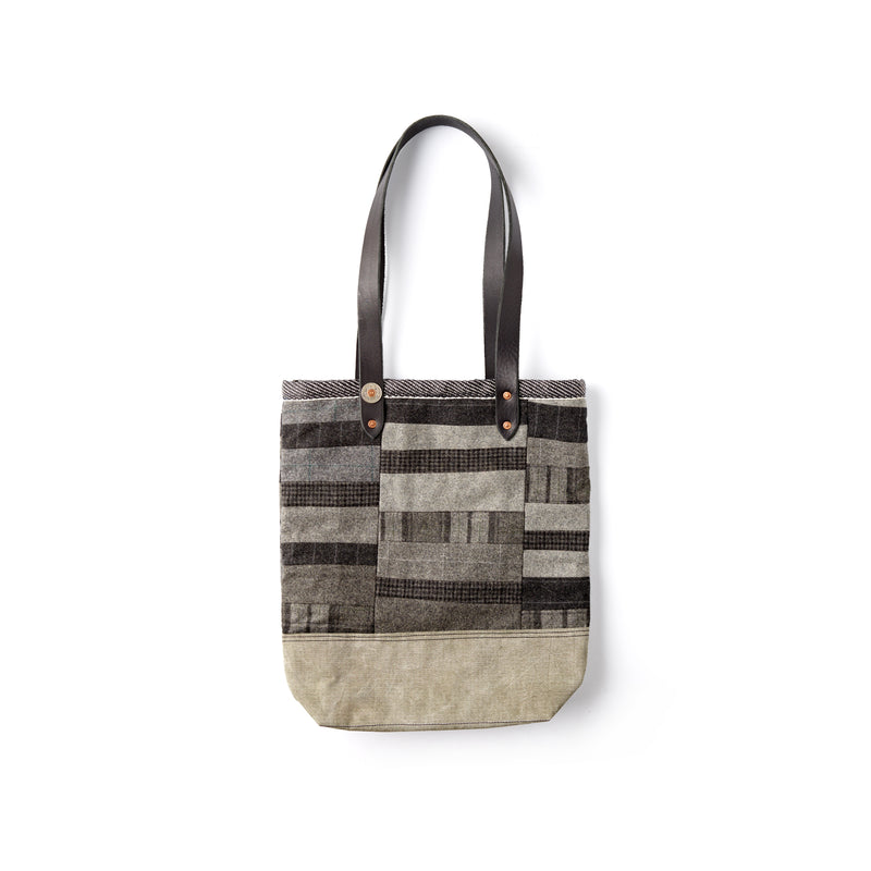 Grey Patchwork Fox Flannel Bag