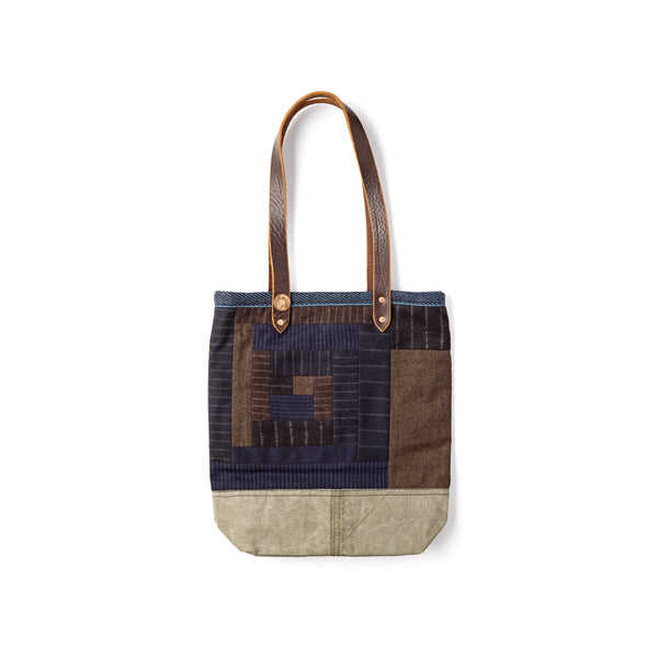 Finest-Quality-handmade-Fox-Flannel-Tote-bag-Leather-Handle-beautiful-Detail