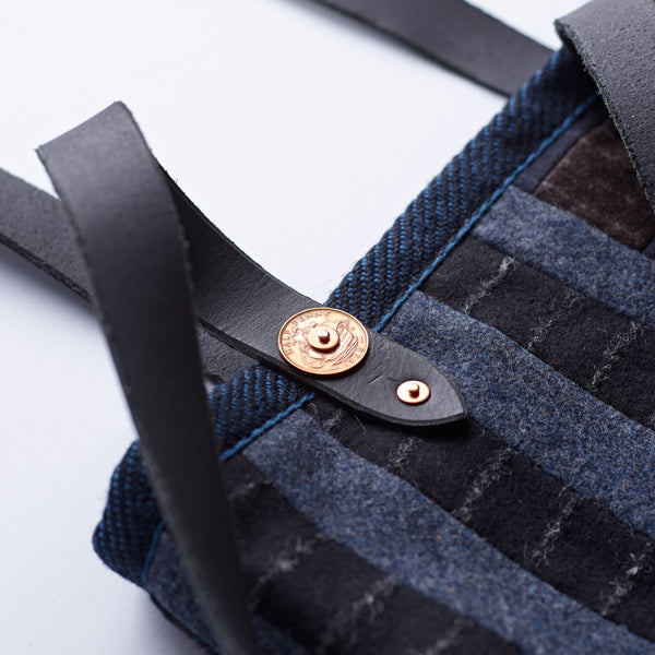 navy-handmade-patchwork-Quality-Craftmanship-fox-flannel-the-merchant-fox-tote-bag-shoulder-bag-detail