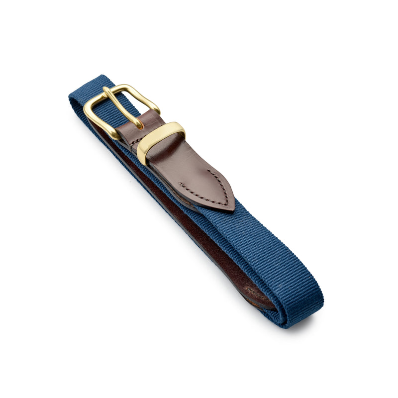 Royal Blue Belt with Chestnut Leather