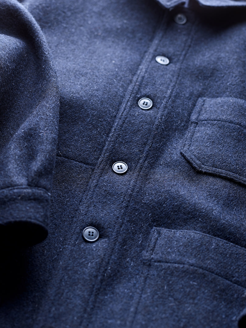 Luxury Mens Navy Utility Jacket Military Issue