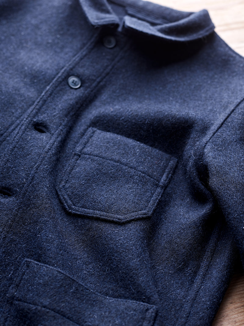Mens Navy Luxury Utility Jacket, from the finest military issue cloth