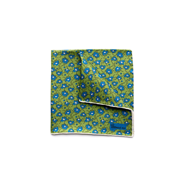 The Merchant Fox Petronius Luxury Handrolled Silk Pocket Square in 100% Silk