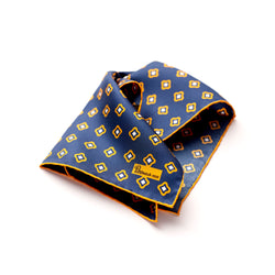 The Merchant Fox Petronius Luxury Handrolled Silk Pocket Square in 100% Silk Geometric Floral