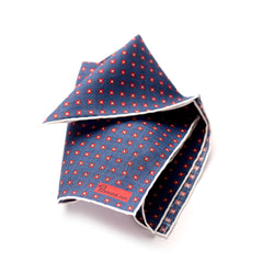 The Merchant Fox Petronius Luxury Handrolled 100% Linen Pocket Square Handprinted Miniature Pattern