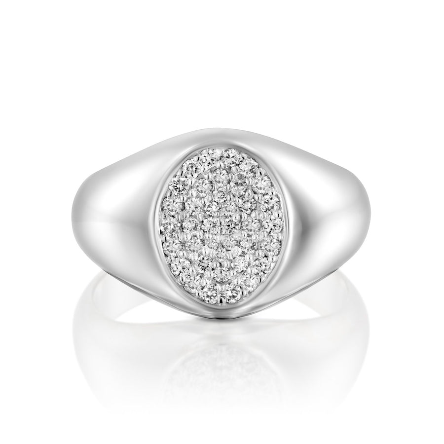 Oval full diamond ring