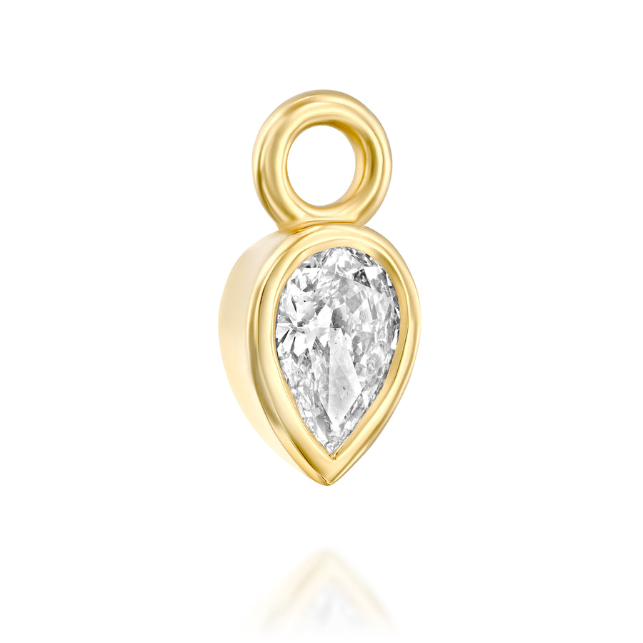 Diamond pendant - tear drop shaped