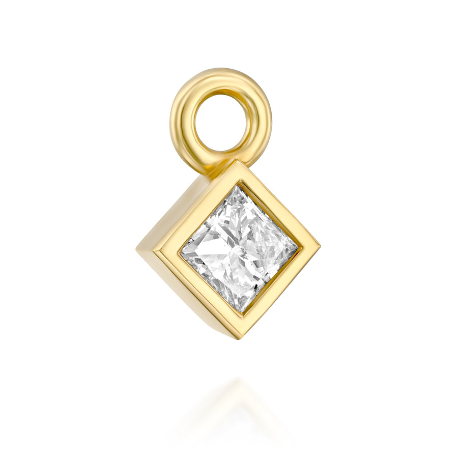 Diamond pendant - princess shaped