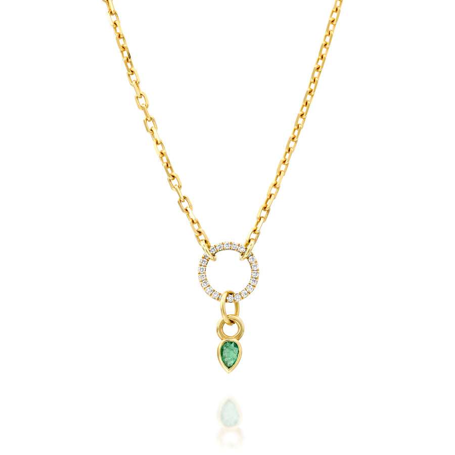 Emerald pendant - tear drop shaped