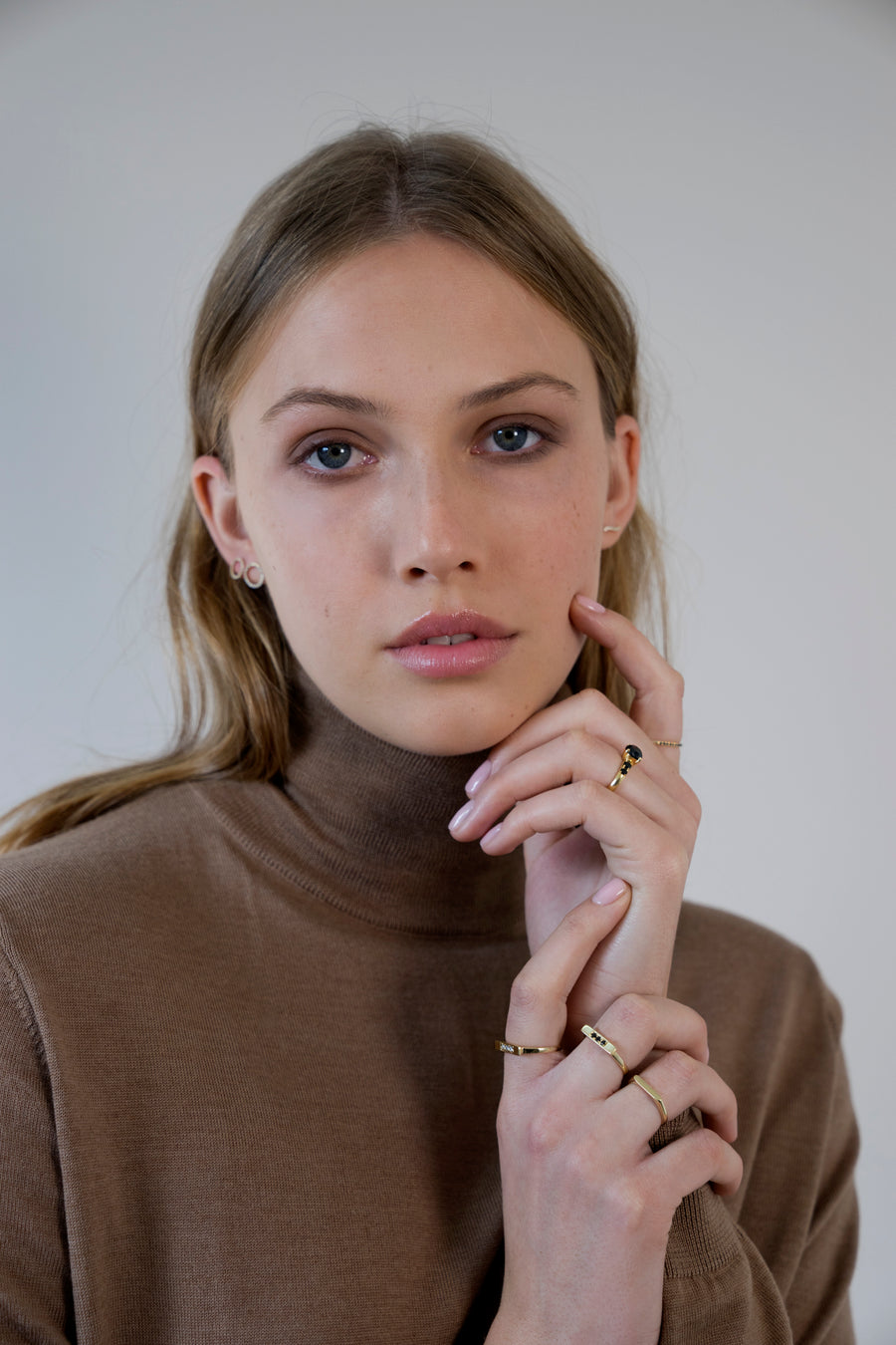 Chic - Flat gold ring