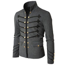 Load image into Gallery viewer, Fashion Mens Solid Color Embroidered Pocket Jacket