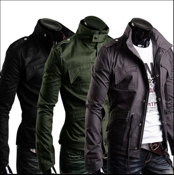New Style Army Coat Black Gray Green