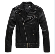 Load image into Gallery viewer, Mens Fashion Rock Jacket PU Leather Jacket