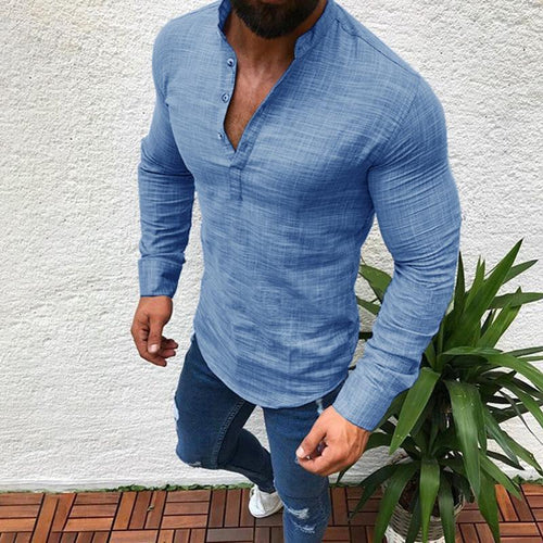 Mens Cotton Basic Shirt 4 Colors