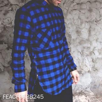 Fashion Check Zipper Shirt