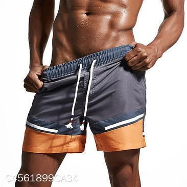 Casual Color Blocking Loose Beach Shorts