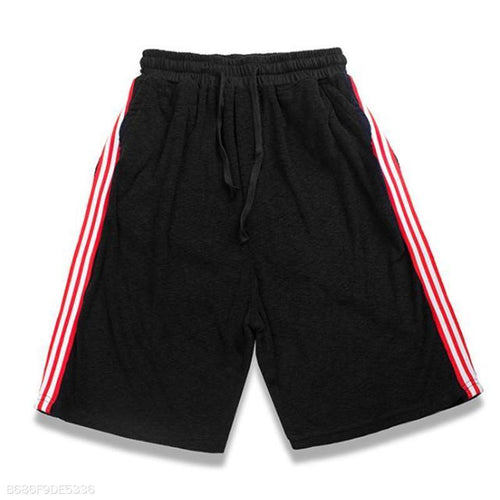Fashion Youth Sport Casual Loose Strip Elastic Waist Short Pants