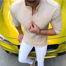 Load image into Gallery viewer, Fashion Mens Casual Cotton/Linen Solid Color Shirt