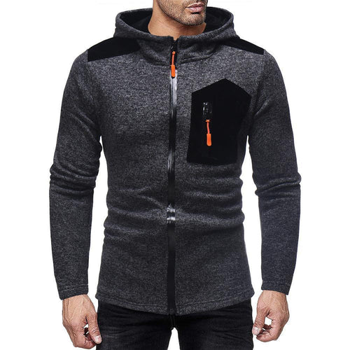 Fashion Mens  Split Joint Winter Zipper Coat