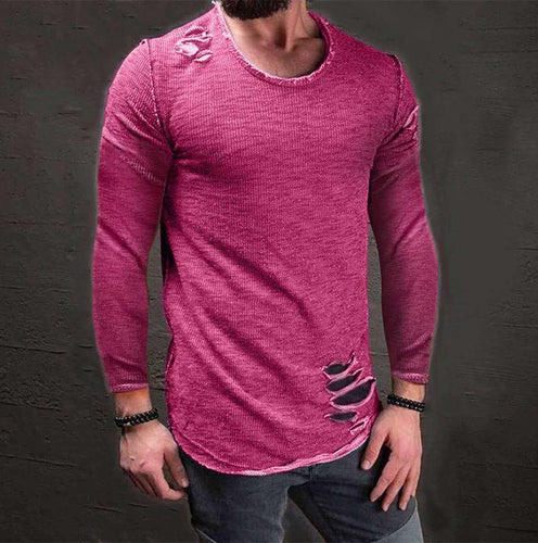 Fashion Round Neck Plain T-Shirt