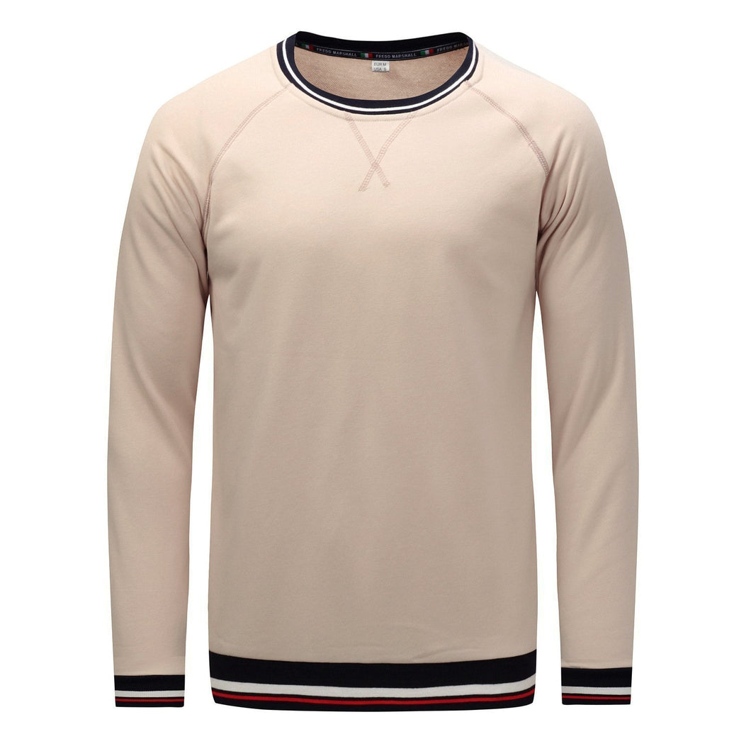 Solid Color Round Neck Long Sleeve
