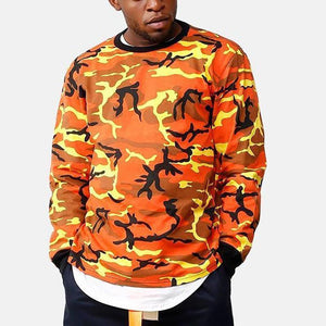Fashion Mens Camouflage Hip-Hop Sweatshirts