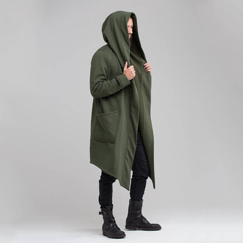 Solid Color Long Sleeve Military Style Coat/Windbreaker