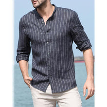 Load image into Gallery viewer, Mens Flax Striped Shirt
