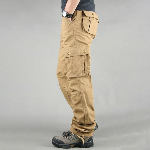 Plus Size Men Military Outdoor High Quality Long Casual Pants