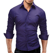 Load image into Gallery viewer, Solid Color Simple Fashion Slim Long-Sleeved Shirt