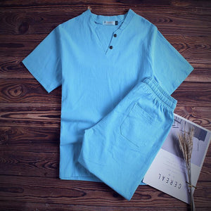 Mens Big Size Summer Cotton Suits