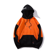 Load image into Gallery viewer, Black Letter Printed Patchwork Hoodie