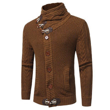 Load image into Gallery viewer, Mens High Collar Button Close Sweater