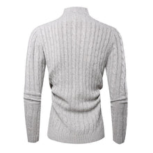 Load image into Gallery viewer, Fashion High Collar Plain Button Sweater
