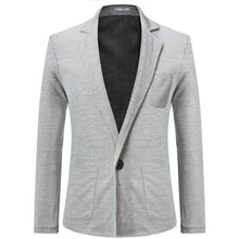 Load image into Gallery viewer, Mens Fashion Plain Business One Button Suit Coat
