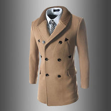 Load image into Gallery viewer, Fashion Lapel Slim Fit Knit Button Long Coat