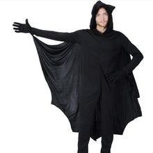 Load image into Gallery viewer, Halloween Trick Plain Bat Long Sleeve Jumpsuit