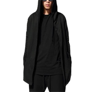 Fashion Casual Loose Plain Long Sleeve Men Hoodie Outerwear